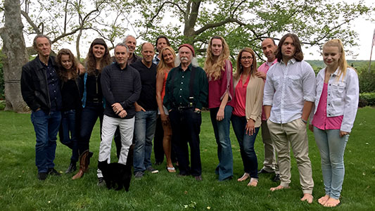 David Crosby, his band, and my friends and family at my home. (photo by Clancy Benedict)