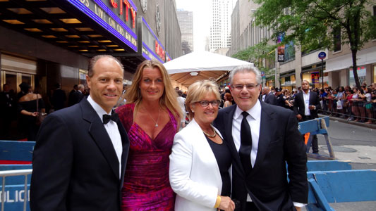 Jeff and Lydia Benedict with Dede and Armen Keteyian at the Tony Awards